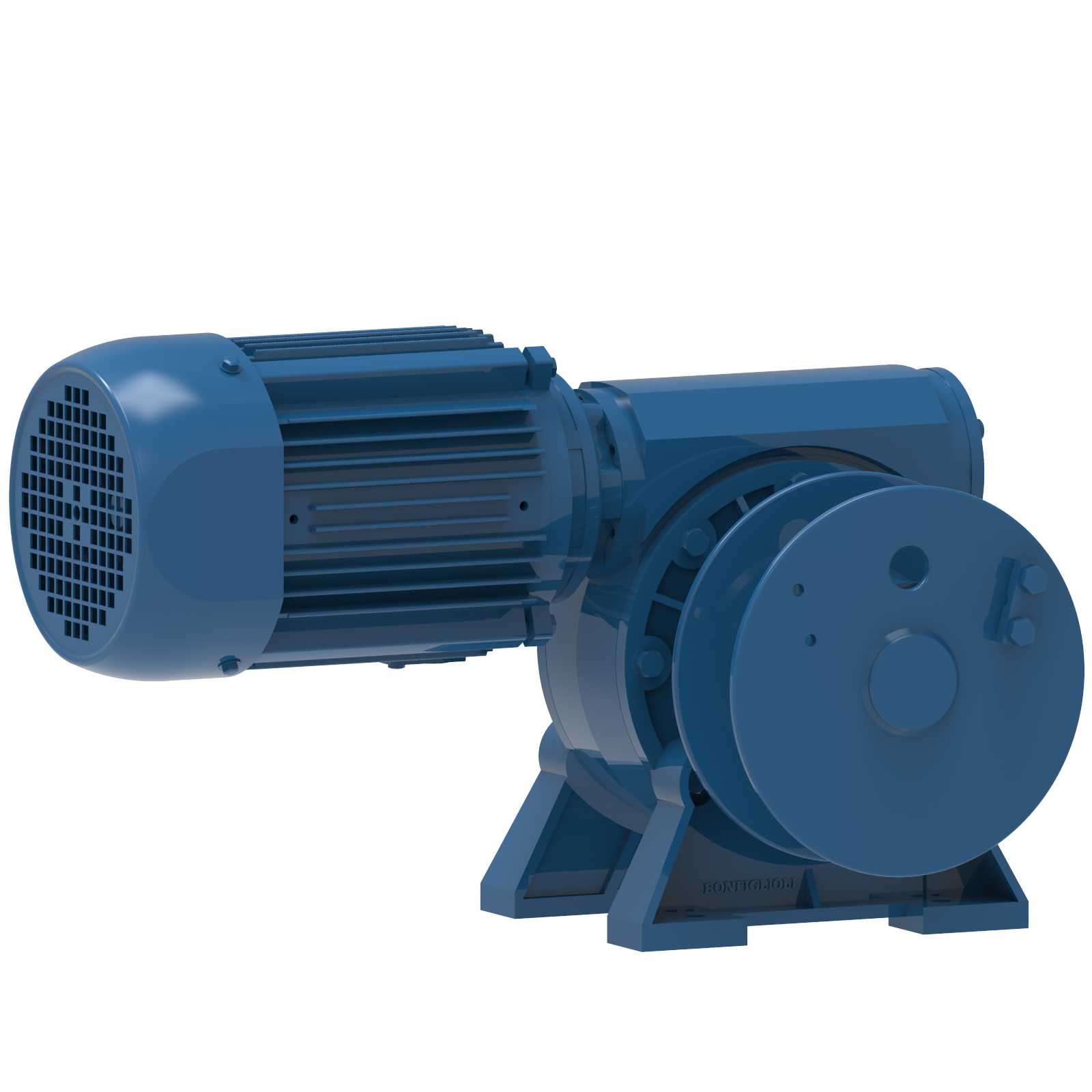 Render drawing of EMCE winch type MCW0500E-VF view number 1
