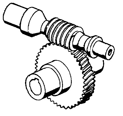 About winches figure 5 - Worm and worm gear