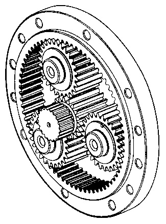 About winches figure 6 - Planetary gear stage